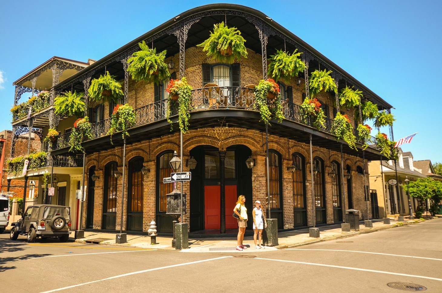 A shot of the famous building in New Orleans' French Quarter.